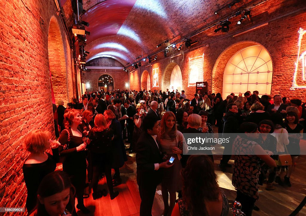 A general view of atmosphere at the post-show party, The 25th Hour, following The Old Vic's 24 Hour Musicals Celebrity Gala 2012 during which guests drank Jack Daniels Single Barrel, Curtain Raiser cocktails in The Great Halls, Vinopolis, Borough on December 9, 2012 in London, England.