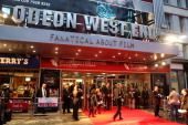 A general view of atmosphere at the premiere of 'Blood' during the 56th BFI London Film Festival at Odeon West End on October 11 2012 in London...