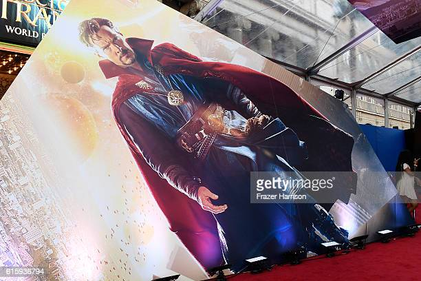 A general view of atmosphere at the premiere of Disney and Marvel Studios' 'Doctor Strange' at the El Capitan Theatre on October 20 2016 in Hollywood...
