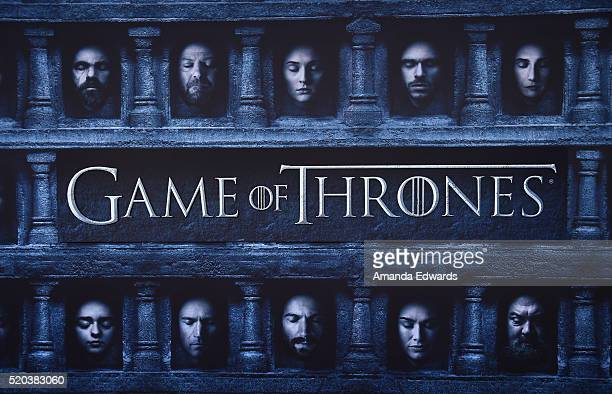 A general view of atmosphere at the premiere of HBO's 'Game Of Thrones' Season 6 at the TCL Chinese Theatre on April 10 2016 in Hollywood California