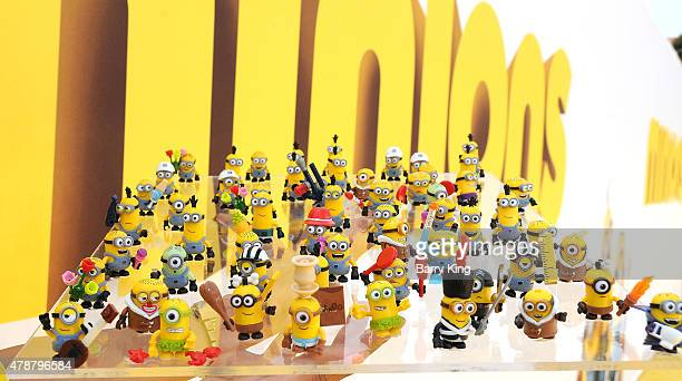 A general view of atmosphere at the Premiere of Universal Pictures and Illumination Entertainment's 'Minions' at the Shrine Auditorium on June 27...