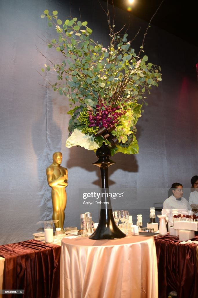 A general view of atmosphere at the preview of the food and decor of this year's 'Governors Ball', the celebration immediately following the Oscars at The Ray Dolby Ballroom at Hollywood & Highland Center on January 22, 2013 in Hollywood, California.