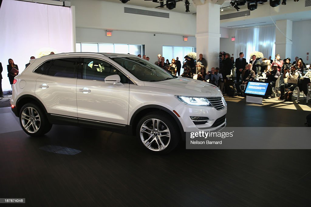 A general view of atmosphere at the reveal event for the all-new 2015 Lincoln MKC on November 13, 2013 in New York City.