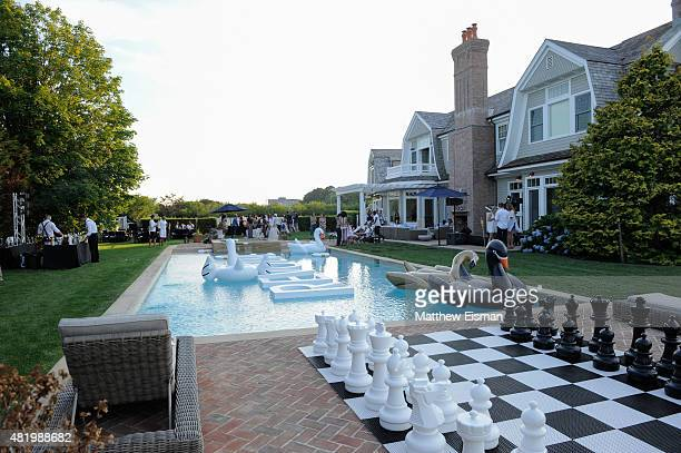 A general view of atmosphere at The REVOLVE Hamptons House on July 25 2015 in Sagaponack New York