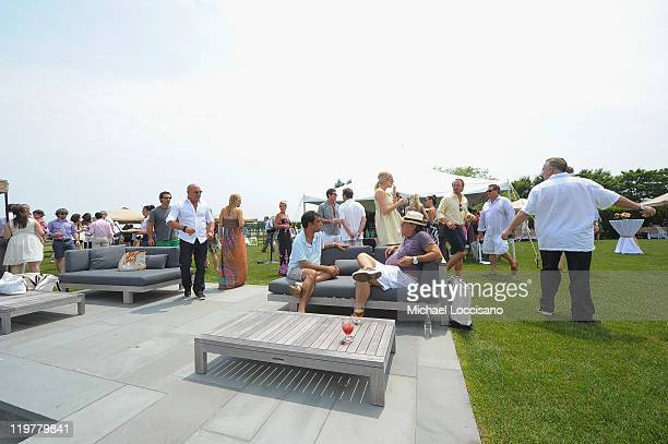 General view of atmosphere at the RollsRoyce Hamptons Brunch Produced By Rand Luxury on July 23 2011 in Watermill New York