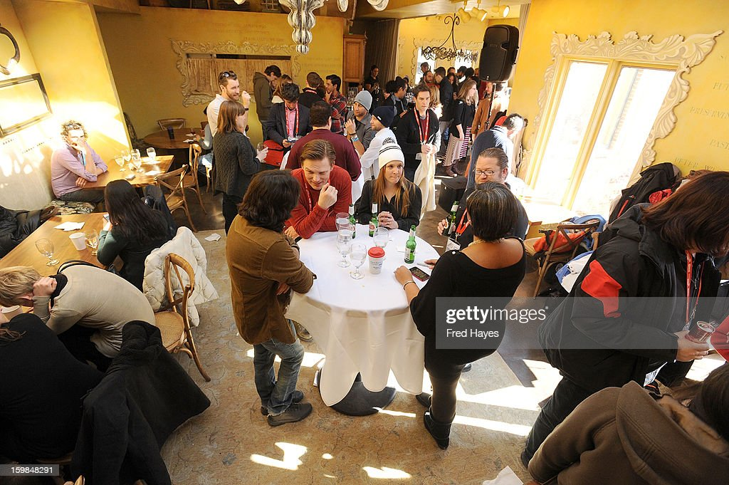 A general view of atmosphere at the SAGIndie Brunch at Cafe Terigo on January 21, 2013 in Park City, Utah.