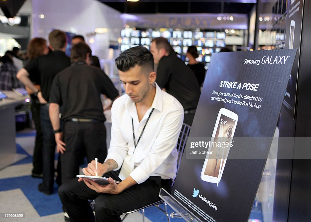 A general view of atmosphere at the Samsung Galaxy Lounge at Mercedes-Benz Fashion Week Spring 2014 Collections - Day 1 at Lincoln Center on September 5, 2013 in New York City.
