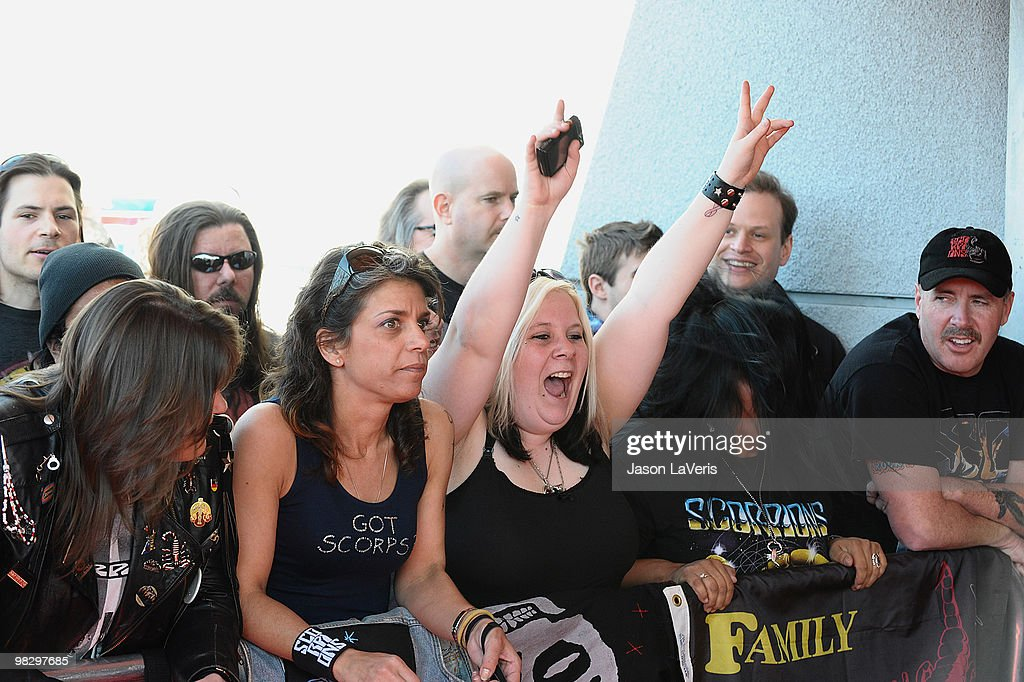 The Scorpions Hollywood RockWalk Induction Ceremony