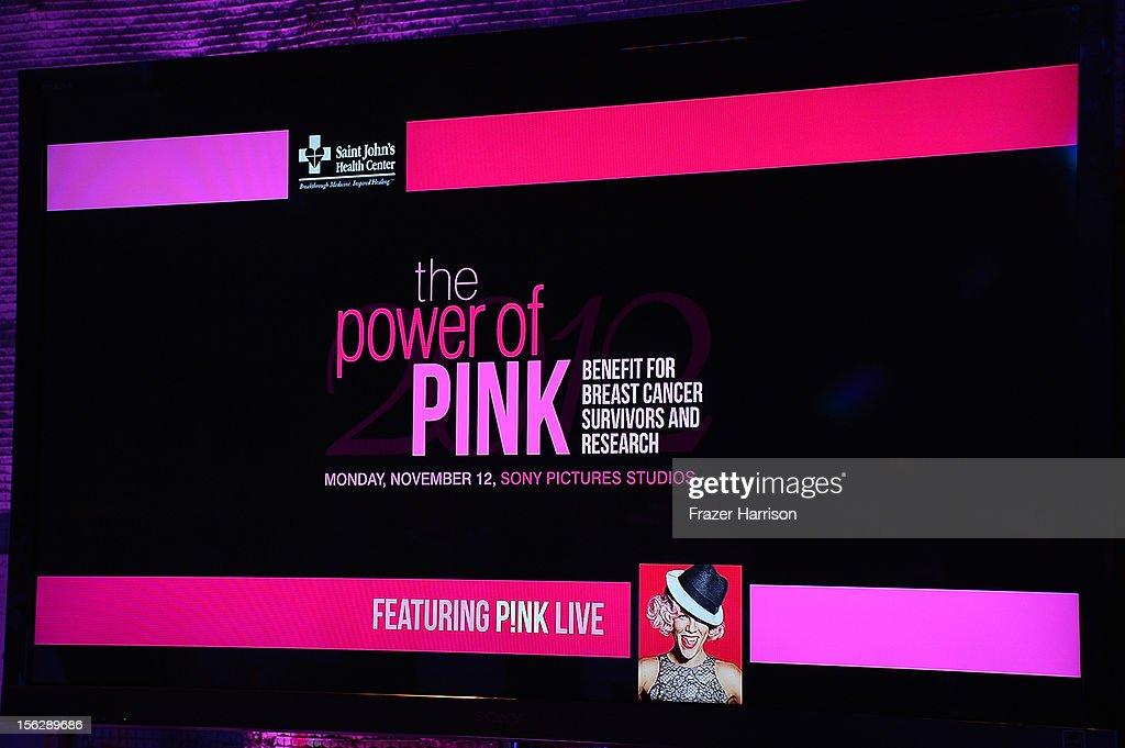 A general view of atmosphere at the St. John's Health Center's Power Of Pink benefiting The Margie Petersen Breast Center at Sony Studios on November 12, 2012 in Los Angeles, California.