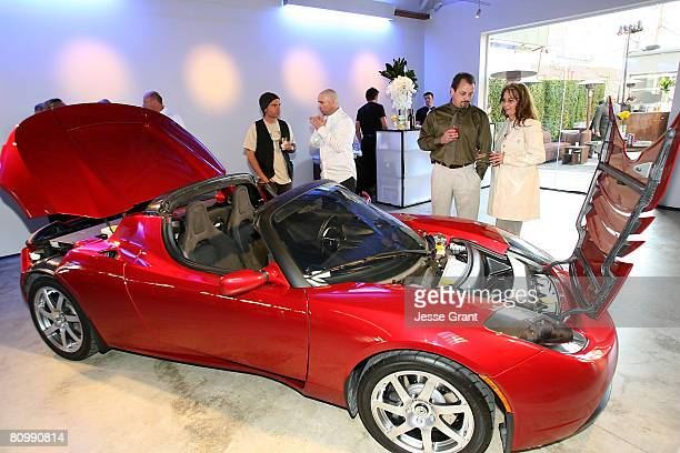 A general view of atmosphere at the Tesla Motors flagship store grand opening on May 1 2008 in Los Angeles California