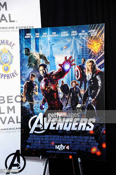 General view of atmosphere at the 'The Avengers' Premiere Closing Night Of The Tribeca Film Festival Sponsored By Bombay Sapphire on April 28 2012 in...