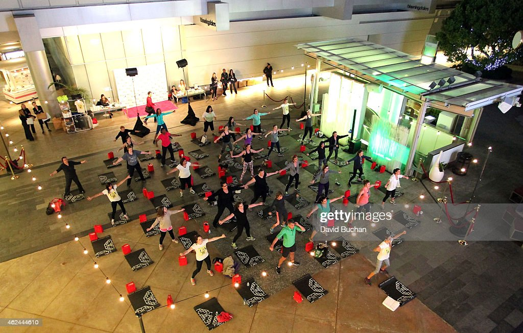 A general view of atmosphere at the Tracy Anderson and Westfield Event at Westfield Century City to celebrate the launch of her global real time...