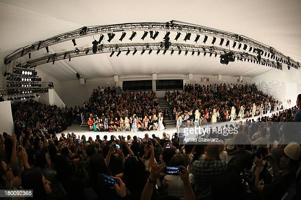 A general view of atmosphere at the TRESemme at Vivienne Tam fashion show during MercedesBenz Fashion Week Spring 2014 at The Stage at Lincoln Center...
