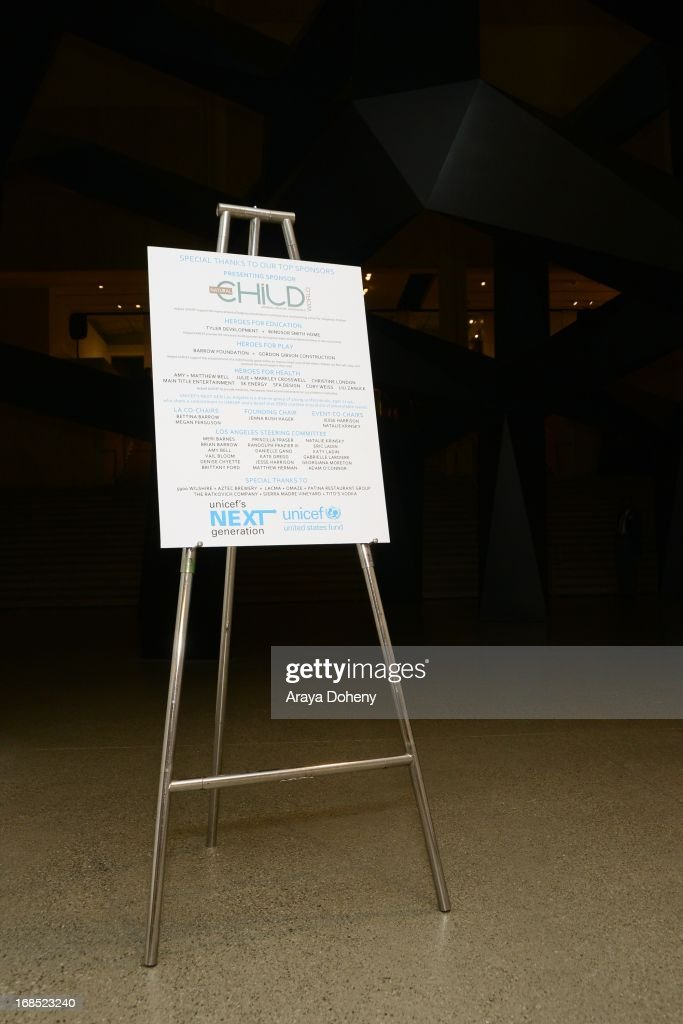 A general view of atmosphere at the UNICEF NextGen Los Angeles launch at LACMA on May 9, 2013 in Los Angeles, California.