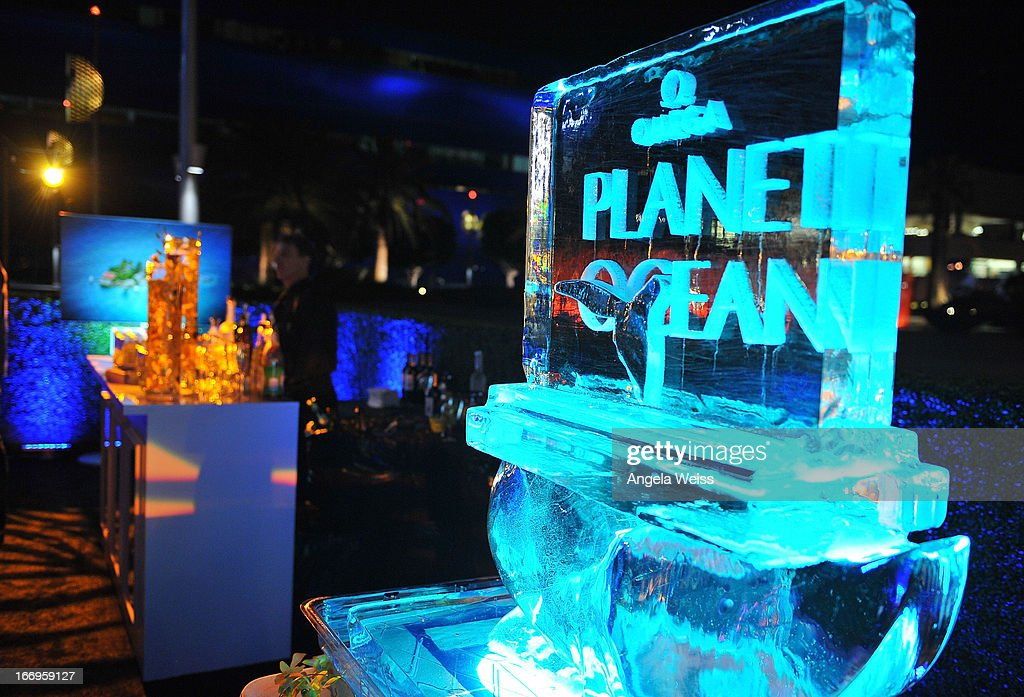 A general view of atmosphere at the US launch of 'Planet Ocean' presented by Omega Watches at Pacific Design Center on April 18, 2013 in West Hollywood, California.