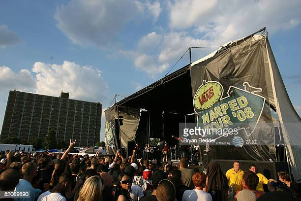 A general view of atmosphere at the Vans Warped Tour on July 25 2008 in Camden New Jersey