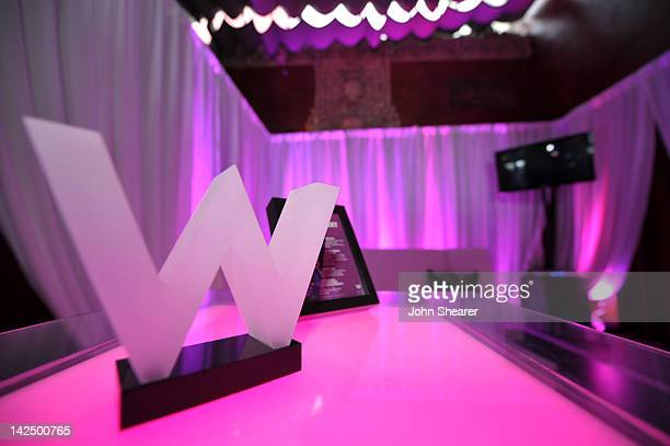 A general view of atmosphere at the W Hotels Backstage Lounge at Logo's NewNowNext Awards at Avalon on April 5 2012 in Hollywood California