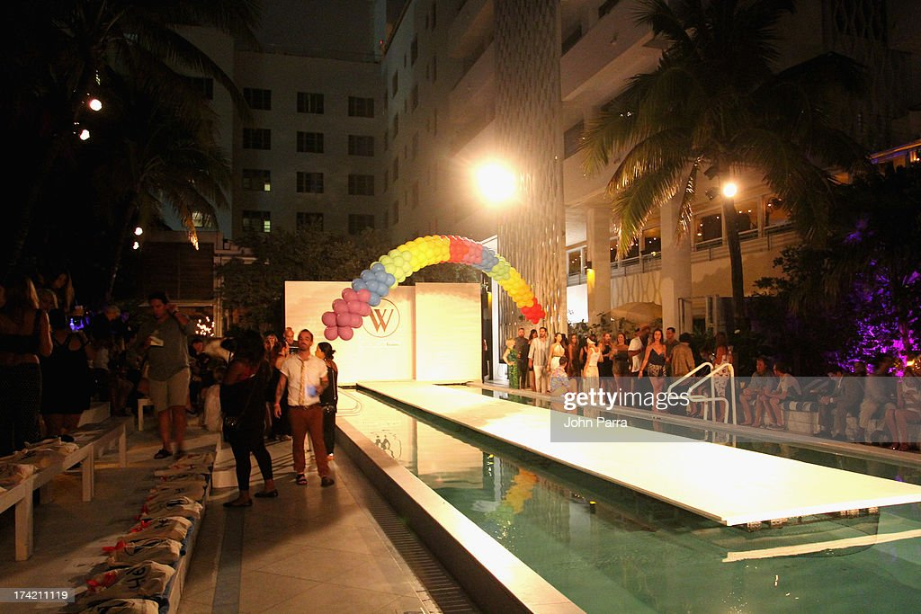 A general view of atmosphere at the Wildfox Swim Cruise 2014 show at Soho Beach House on July 21, 2013 in Miami Beach, Florida.