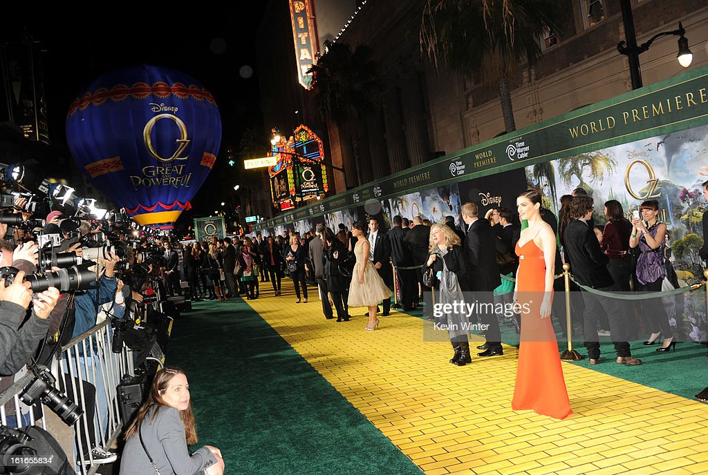 A general view of atmosphere at the world premiere of Walt Disney Pictures' 'Oz The Great And Powerful' at the El Capitan Theatre on February 13, 2013 in Hollywood, California.