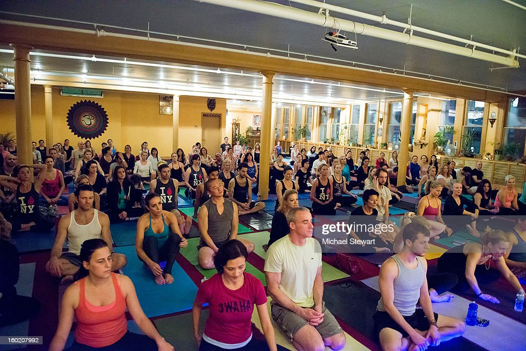 A general view of atmosphere at the Yoga Freedom project at Dharma Yoga Center on January 27, 2013 in New York City.