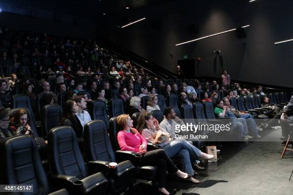 A general view of atmosphere at TheWrap's Awards Foreign Screening Series 'Saving Mr Banks' at the Landmark Theater on December 19 2013 in Los...