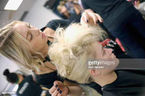 A general view of atmosphere backstage at 2017 Vancouver Fashion Week Day 7 on September 24 2017 in Vancouver Canada
