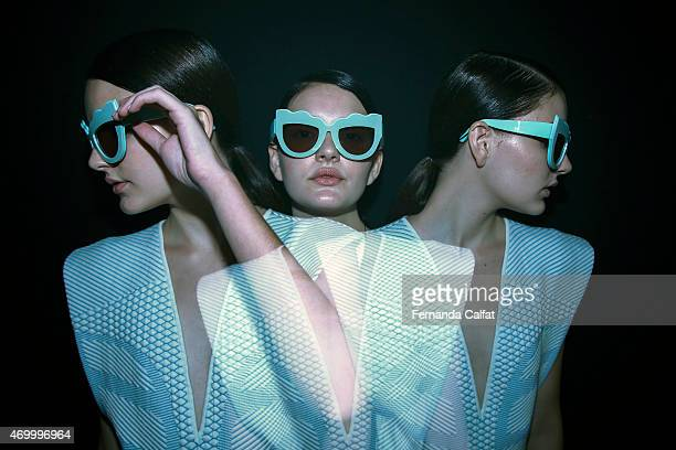 A general view of atmosphere backstage at GIG Couture at SPFW Summer 2016 at Parque Candido Portinari on April 16 2015 in Sao Paulo Brazil