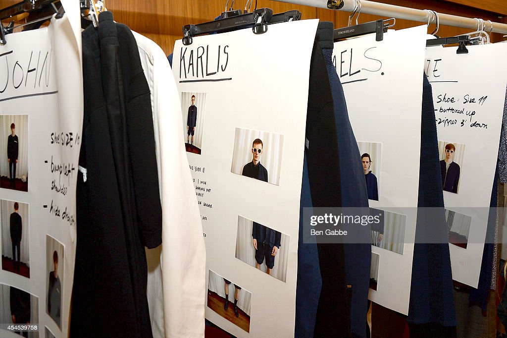 A general view of atmosphere backstage at Timo Weiland Men's during Mercedes-Benz Fashion Week Spring 2015 at The Highline Hotel on September 3, 2014 in New York City.