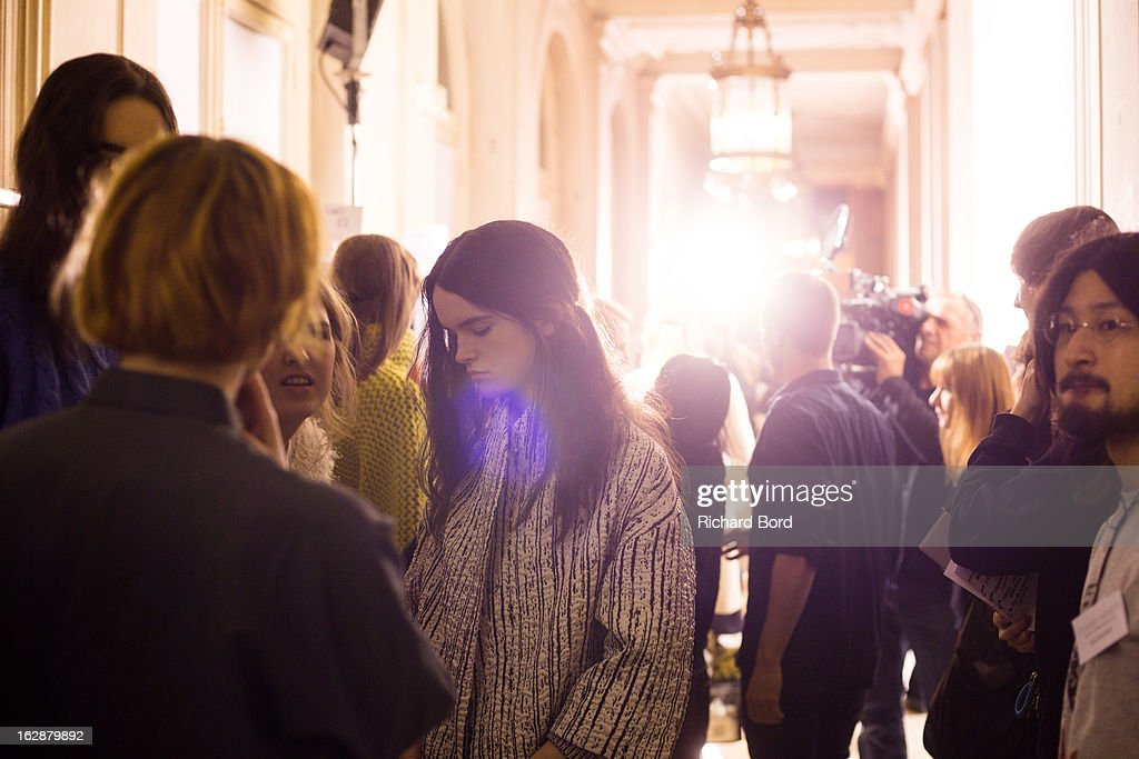 A general view of atmosphere backstage before the Christian Wijnants Fall/Winter 2013 Ready-to-Wear show as part of Paris Fashion Week on February 28, 2013 in Paris, France.