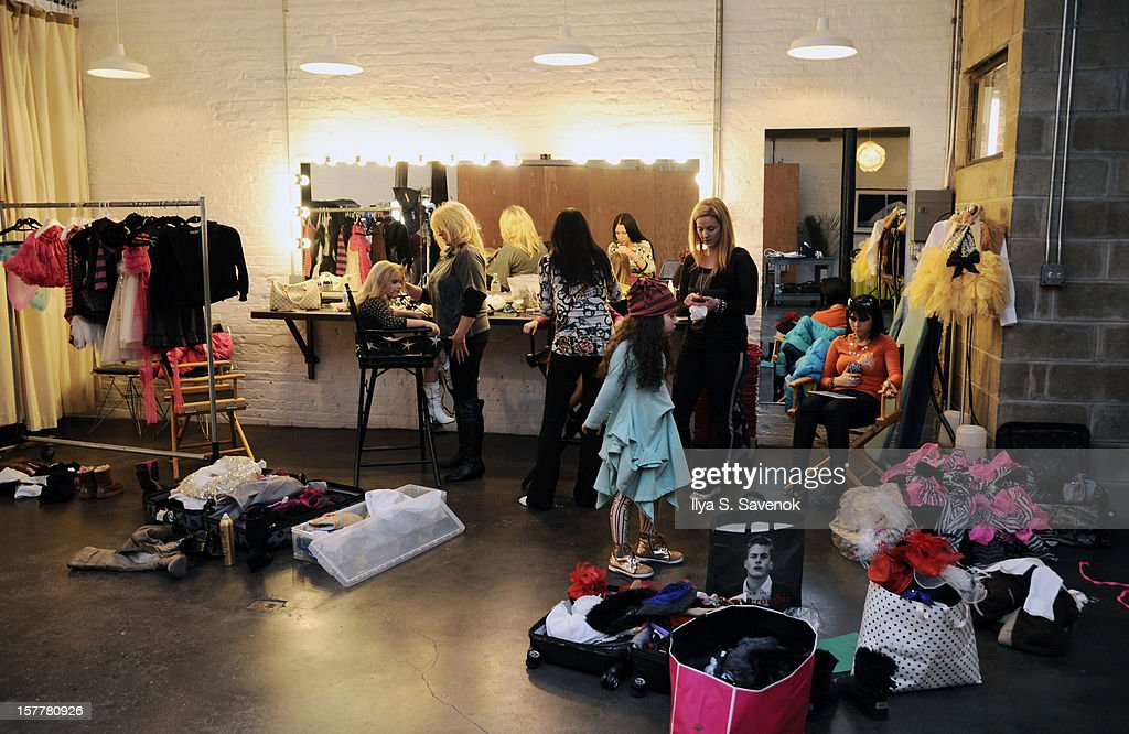 A general view of atmosphere backstage during Eden Wood and Isabella Barrett 'LOL' Music video shoot at Picture Ray Studios on December 6, 2012 in New York City.