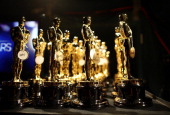 General view of atmosphere backstage during the Oscars held at the Dolby Theatre on February 24 2013 in Hollywood California