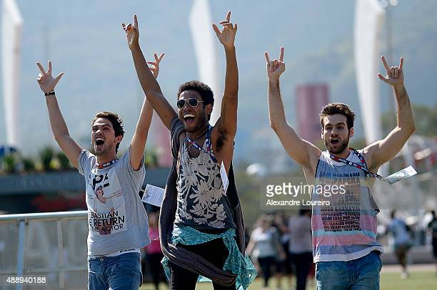 General view of atmosphere during 2015 Rock in Rio on September 18 2015 in Rio de Janeiro Brazil