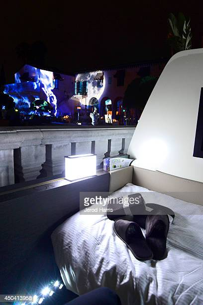 A general view of atmosphere during a gala to celebrate Etihad Airways' worldclass nonstop service between Los Angeles and Abu Dhabi at the iconic...