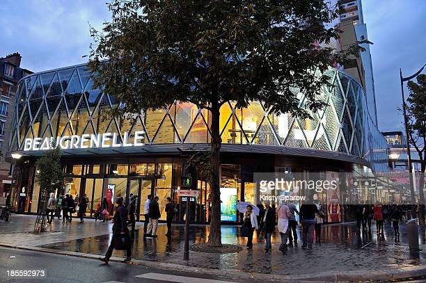 A general view of atmosphere during Beaugrenelle shopping center opening night on October 22 2013 in Paris France