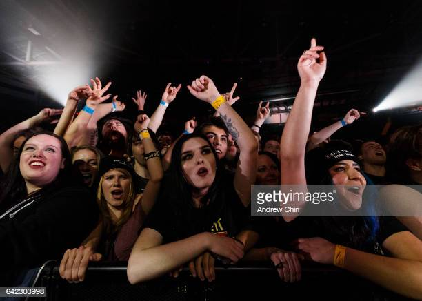 A general view of atmosphere during Billy Talent's performance at Abbotsford Centre on February 16 2017 in Abbotsford Canada