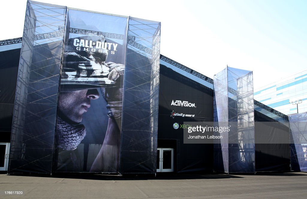 A general view of atmosphere during 'Call Of Duty: Ghosts' Multiplayer Global Reveal at LA Live on August 14, 2013 in Los Angeles, California.
