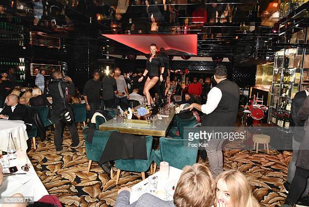 A general view of atmosphere during Charlotte Namura and Clio Pajczer DJ Party at La Gioia in VIP Room Theater on November 30 2016 in Paris France