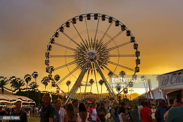 A general view of atmosphere during day 1 of the 2014 Coachella Valley Music Arts Festival at the Empire Polo Club on April 18 2014 in Indio...