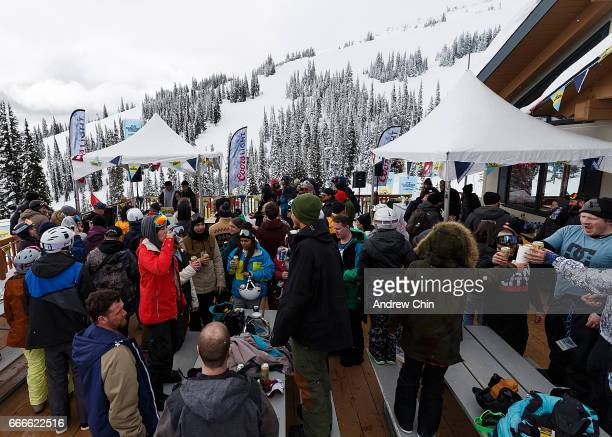 A general view of atmosphere during Day 4 of Coors Light Snowbombing at Sun Peaks Resort on April 9 2017 in Sun Peaks Canada