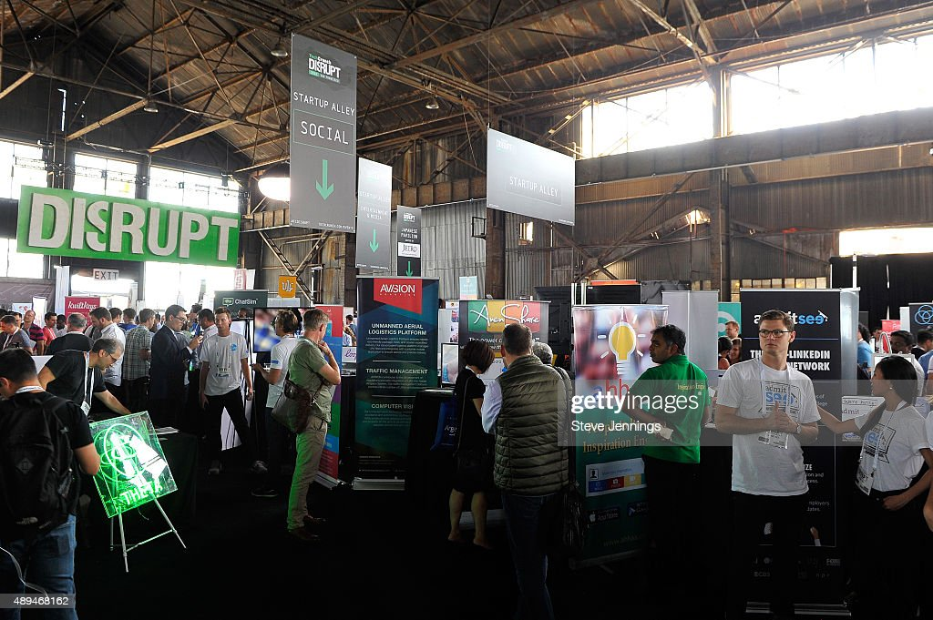 A general view of atmosphere during day one of TechCrunch Disrupt SF 2015 at Pier 70 on September 21 2015 in San Francisco California