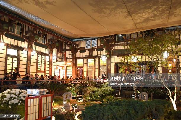A general view of atmosphere during Funimation Films presents 'Your Name' Theatrical Premiere in Los Angeles CA at Yamashiro Hollywood on March 23...