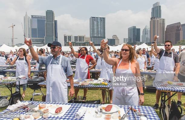 General view of atmosphere during 'Handson Grilling' during the Austin FOOD WINE Festival at Auditorium Shores on April 29 2017 in Austin Texas