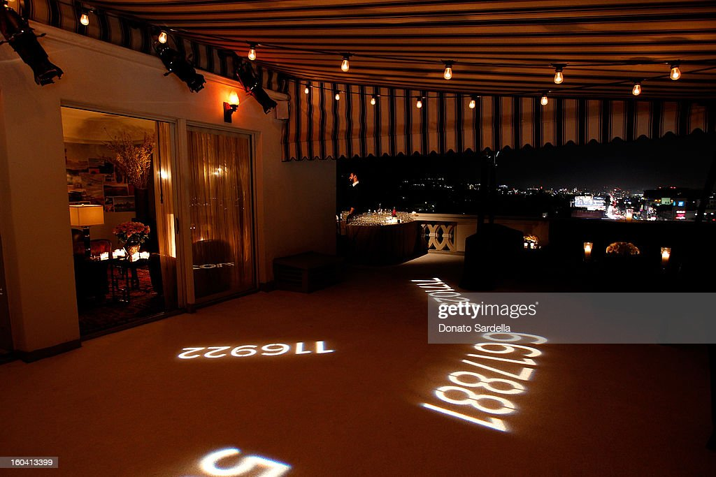 A general view of atmosphere during Hoorsenbuhs for Forevermark Collection cocktail party at Chateau Marmont on January 30, 2013 in Los Angeles, California.