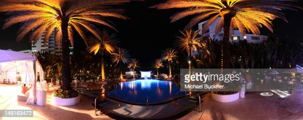A general view of atmosphere during MercedesBenz Fashion Week Swim 2013 at The Raleigh on July 23 2012 in Miami Beach Florida