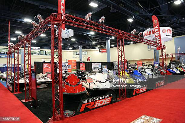 A general view of atmosphere during Miami International Boat Show at the Miami Beach Convention Center on February 12 2015 in Miami Florida