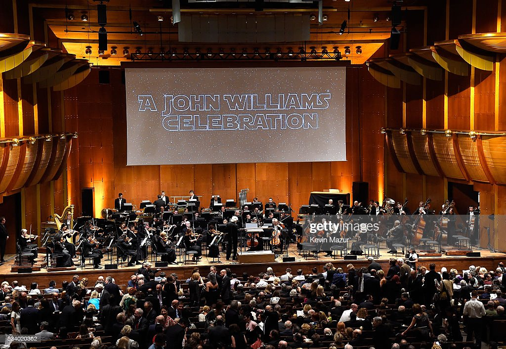 A general view of atmosphere during New York Philharmonic's Spring Gala, A John Williams Celebration at David Geffen Hall on May 24, 2016 in New York City.