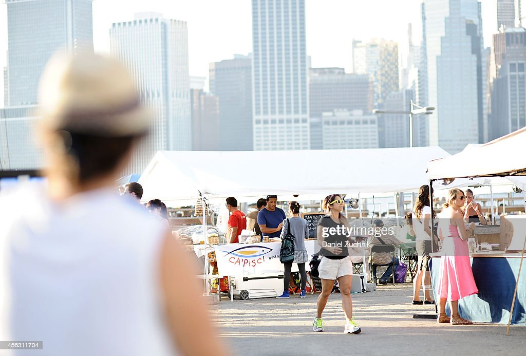 A general view of atmosphere during Photoville 2014 at Brooklyn Bridge Park on September 28 2014 in New York City