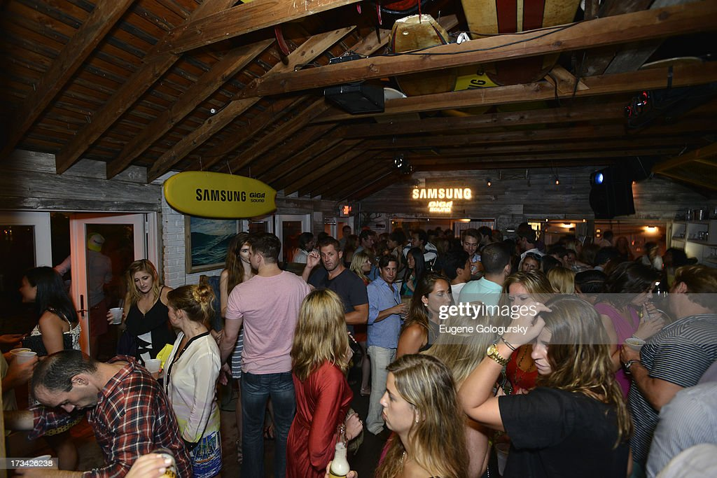 A general view of atmosphere during Samsung's Summer DJ Series to launch the Giga Sound System at Surf Lodge on July 13, 2013 in Montauk City, New York.