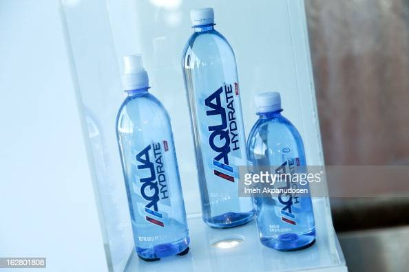 A general view of atmosphere during Sean Combs's and Mark Wahlberg's press conference to announce their newest venture Water Brand AQUAhydrate on...