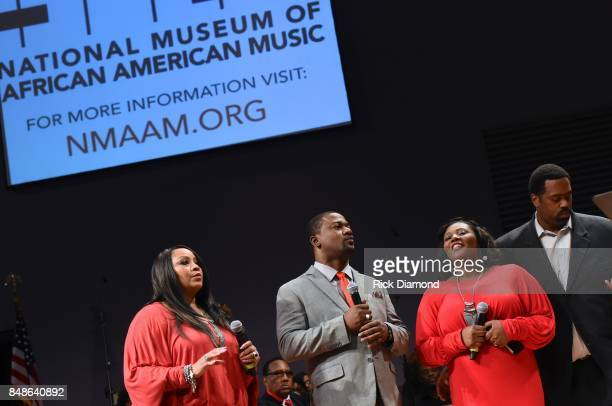 A general view of atmosphere during soundcheck before an Evening with Richard Smallwood and Yolanda Adams benefiting The National Museum Of African...